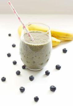 Green Blueberry Banana Smoothie Recipe