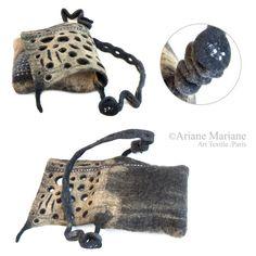 Wearable art women handbagexclusiv designer by ArianeMariane