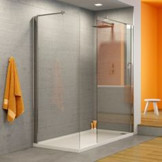 Walk In Shower Enclosure 1200 x 1 x 800 & 1 x 700 Panels & Shower Tray Loft Bathroom, Ensuite Bathrooms, Downstairs Bathroom, Bathroom Layout, Modern Bathroom, Small Bathroom, Bathroom Ideas, Bathroom Photos, Small Shower Room
