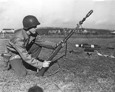 firing deactivated Rifle Grenade to extend communications wires. What a great way to put up my next antenna wire on a hike!