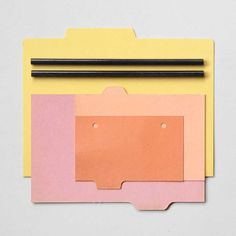 Stationery Week Composition No.4 (index cards, pencils)