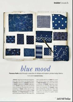 Decorating with Indigo blue fabrics.