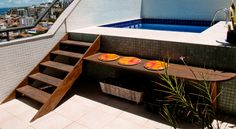 Piscina e deck Piscina Diy, Ideas De Piscina, Mini Piscina, Garden Swimming Pool, My Pool, Swimming Pools, Small Backyard Pools, Small Pools, Pool Images