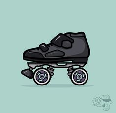 Draw all the roller skates