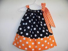 For Palmer: Black and Orange Pillowcase Dress -via Etsy.