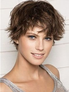 Different Hairstyles : Easy Short Messy Casual Hairstyles With Bangs For Natural Straight Hair Women In Dark Brown Color Short Messy Hairstyles for Women with Fine Hair Messy Hair For Fine Hair. Short Messy Hairstyles For Thick Hair.