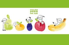 Healthy food for kids web banner. Web Elements