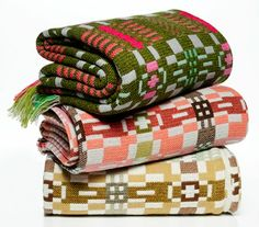 Blancedi Cymreig / Welsh blankets  Ironic, mid/late-1800s American retro overshot blankets - 'bout the time my people came from Wales