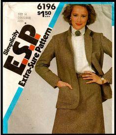 Simplicity E.S.P Pattern No. 6196 Misses' Skirt by EJVintageAvenue, $5.00