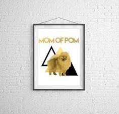 Print Mom of Pom by electricbluestudios on Etsy