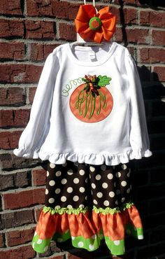 Cutest Pumpkin in the Patch Outfit by doodlebugsga on Etsy, $50.00