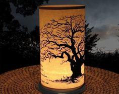 Candle Holder (Shoji Candle Lantern Large Tree) Holiday Decor Candles & lighting decorative Holiday candles entertaining