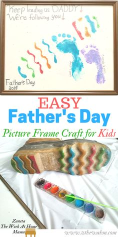 Easy Father's Day Picture Frame Craft for Kids!  #fathersdaycraft #diyfathersdaycraftforgirls  #fathersdaycraftideas #fathersdaycraftgift #fathersdaycraftforkids #diyfathersdaycraft