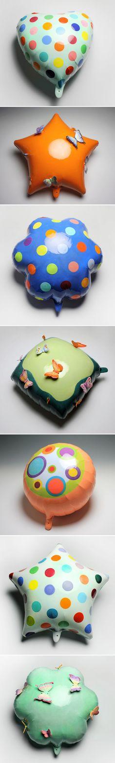 nina jun - The Jealous Curator ceramic balloons