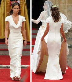 Pippa Middleton's Maid of Honor dress by Sarah Burton at Alexander McQueen