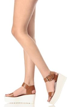 f694cd59396 ... new style CICI HOT Chestnut Faux Leather Ankle Strap Platform Sandals  Buy Now 26.99 Find at ...