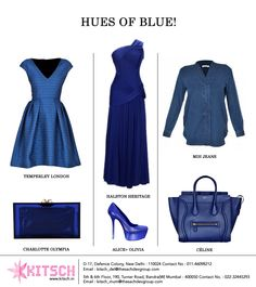 Make room for #blue in your closet this season. Blue (light, navy, royal, electric and everything in between) has made a very strong presence at the #fall runways. Incorporate these countless shades of blue in your dresses, shoes and accessories to be fall ready!  @TemperleyLondon @colympia @mihjeans  @alice_olivia @halstonheritage