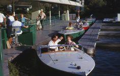 The Motor Boat Cruise in Tomorrowland, Disneyland, is long gone, but you can still see the waterways Disneyland Photos, Vintage Disneyland, Tokyo Disneyland, Disneyland Tomorrowland, Disney Princess Facts, Disney Fun Facts, Disney Parks, Walt Disney, Disney Land