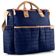 Diaper Bag by Maman  with Matching Changing Pad  Stylish Designer Tote for Moms  for Baby Boys and Girls  PATENT PENDING ** Check out this great product.-It is an affiliate link to Amazon.