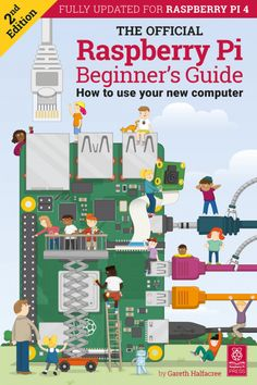 From the makers of Raspberry Pi, get ready for 244 pages of new projects and beginner guides. Containing the official information you need to get started - learn to code and make a start on raspberry pi projects quicker than you expect! Computer Books, Pi Computer, Computer Projects, Arduino Projects, Raspberry Computer, Raspberry Projects, Raspberry Ideas, Raspberry Pi Foundation, Rasberry Pi