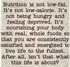 This is what Nutrition is all about.