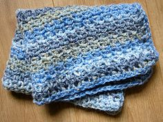 Ravelry: Cornish Coast Baby Blanket pattern by Clare Collier ~Free pattern