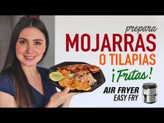 Cómo hacer TILAPIA o MOJARRA frita en la #AirFryer   Receta Fácil - YouTube Air Fryer Dinner Recipes, Air Fryer Recipes, Nom Nom, Food And Drink, Breakfast, Easy, Youtube, Fish Recipes, Healthy Recipes