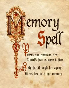 """""""Memory Spell"""" - Charmed - Book of Shadows"""