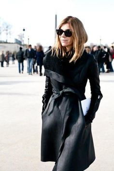 EatFashionNotCake: Nothing But The Black.    #black #chic #fashion #streetstyle #eatfashionnotcake #2013 #style #blackonblack #hot #classic #sexy #edgy #carineroitfeld #stylequeen #roitfeld