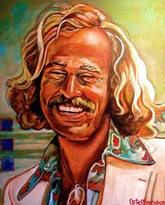 Jimmy Buffett painting - If you'd like this original painting on your wall, email RayboMusic@bellsouth.net (also available in prints) #Margartiaville #FinsUp #ParrotHead #ParrotHeads #Nashville #NashvilleTN #art #artwork #painting #ItsFiveOClockSomewhere
