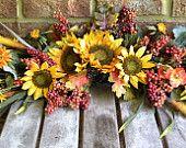 Fall Swag w/ Sunflower Wildflower