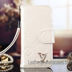 Classic Louis Vuitton White Vernis Wallet Case for iPhone 6S/iPhone 6S Plus - Shopping at LeatheriPhone6SCases