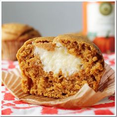 Pumpkin Cream Cheese Muffins.