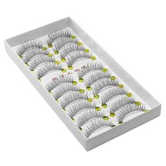 Amazon.com: 10 Pairs Thin criss cross eyelash lashes for make-up: Just under $5.00 for the box