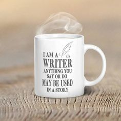 This mug was especially designed for writers. Writers have that special creativity, intelligence, and wit that makes this design so perfect. This is one of our best sellers and is printed in the USA.
