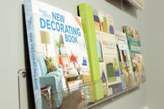 Acrylic book ledge