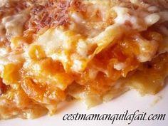 Les Lasagnes de potiron ou encore les lasagnes de citrouille sont un délice ... si si vraiment. Laisser vous tenter. La recette est celle de ma bonne copine Pascale, qui me l'a généreusement donnée. Donc merci à elle, car grâce