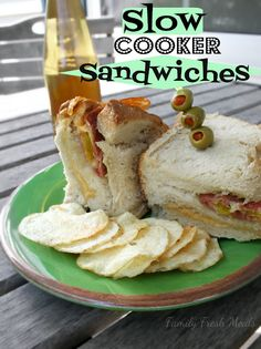 Slow Cooker Sandwiches  Perfect for parties and football season!
