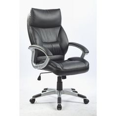 Modern Office Chair PU Leather, Black | Buy Office Chairs | MyDeal