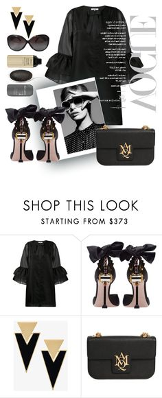 """Untitled #848"" by pesanjsp ❤ liked on Polyvore featuring Ganni, Miu Miu, Yves Saint Laurent, Alexander McQueen and Louis Vuitton"