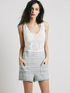 Free People Talk to the Toofer Romper