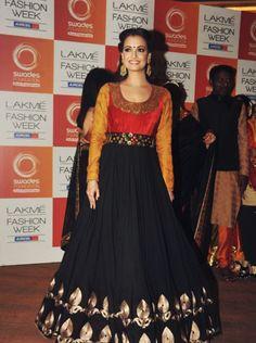 Diya Mirza in Vikram Phadnis | Lakme Fashion Week 2013