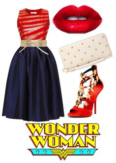 Wonder Woman inspired outfit by PFKimmerle Wonder Woman Birthday, Wonder Woman Party, Wonder Woman Quotes, Wonder Woman Outfit, Rockabilly, Birthday Outfit For Women, Outfits Mujer, Pin Up, Fandom Fashion