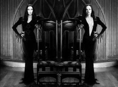~† Christina Ricci † As Wednesday Addams † All Grown Up Today Like Her Mom. As Morticia Addams ~† Anjelica Huston † The Addams Family, Addams Family Values, Adams Family, Christina Ricci, Beautiful Christina, Christina Aguilera, Gomez And Morticia, Anjelica Huston, Gothic