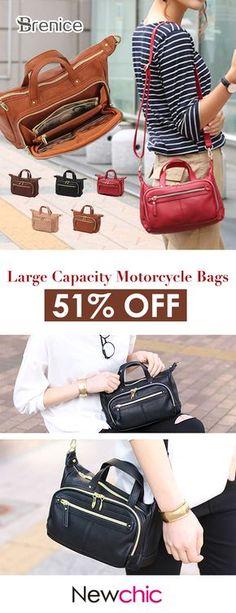 48faff81cb4b  US 34.99 Brenice Multi Pockets Shoulder Bags Vintage Walles Motorcycle Bag  For Women