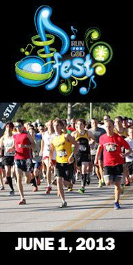 East Ridge, TN (near Chattanooga, TN) 5K!  Join us for the 3rd Annual Run for God - JFest 5K. Run for God has teamed up with J103 to host this unique event which will finish in front of the main stage at JFest 2013! As an added bonus your race number will serve as your ticket into JFest where to will enjoy a day packed full of fun in the sun.