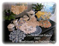 Ten Free Crochet Dishcloth Patterns!