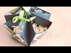 Dulcero · Guarda Regalo // Hazlo tu mismo     Candy bowl tutorial, made of cardboard very easy