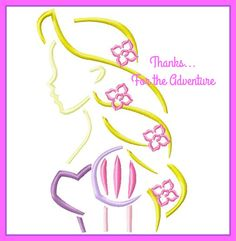 Rapunzel from Tangled Sketch Digital Embroidery Machine Applique Design File 4x4 5x7 6x10 by Thanks4TheAdventure on Etsy