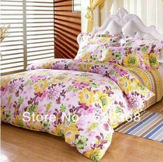 Aliexpress.com : Buy 100% cotton four piece bedding set duvet cover rustic solid color comforter queen bedroom sets,comforter set,bed sheet,bed linen from Reliable french vintage bedroom suppliers on Yous Home Textile. $60.00